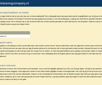 Hotel cleaning company gorinchem