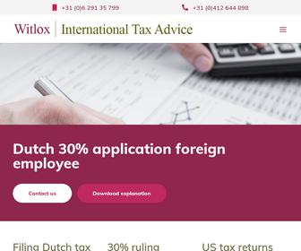 Witlox International Tax Advice